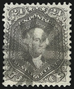 Sale Number 1078, Lot Number 187, 1861-68 Issue (Scott 71-78)24c Grayish Lilac (78a), 24c Grayish Lilac (78a)