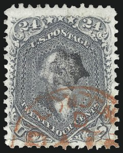 Sale Number 1078, Lot Number 188, 1861-68 Issue (Scott 71-78)24c Gray (78b), 24c Gray (78b)