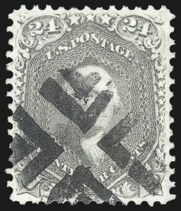 Sale Number 1078, Lot Number 190, 1861-68 Issue (Scott 71-78)24c Gray (78b), 24c Gray (78b)