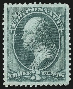 Sale Number 1078, Lot Number 284, 1870 National Bank Note Co. Grilled Issue (Scott 134-144)3c Green, I. Grill (136A), 3c Green, I. Grill (136A)