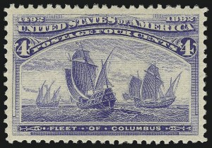 Sale Number 1078, Lot Number 340, 1893 Columbian Issue (Scott 230-245)4c Columbian (233), 4c Columbian (233)