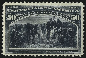 Sale Number 1078, Lot Number 350, 1893 Columbian Issue (Scott 230-245)50c Columbian (240), 50c Columbian (240)