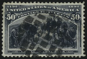 Sale Number 1078, Lot Number 354, 1893 Columbian Issue (Scott 230-245)50c Columbian (240), 50c Columbian (240)