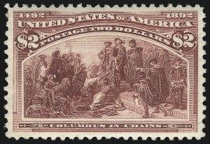 Sale Number 1078, Lot Number 364, 1893 Columbian Issue (Scott 230-245)$2.00 Columbian (242), $2.00 Columbian (242)