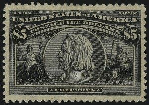 Sale Number 1078, Lot Number 375, 1893 Columbian Issue (Scott 230-245)$5.00 Columbian (245), $5.00 Columbian (245)