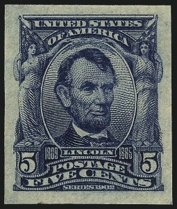 Sale Number 1078, Lot Number 446, 1902-08, Louisiana Purchase, Jamestown Issues5c Blue, Imperforate (315), 5c Blue, Imperforate (315)