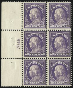 Sale Number 1078, Lot Number 518, 1912-23 Washington-Franklin Issues50c Violet (421), 50c Violet (421)