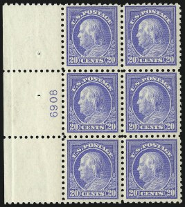 Sale Number 1078, Lot Number 531, 1912-23 Washington-Franklin Issues20c Ultramarine (438), 20c Ultramarine (438)