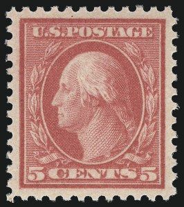 Sale Number 1078, Lot Number 565, 1912-23 Washington-Franklin Issues, cont.5c Rose, Error (505), 5c Rose, Error (505)