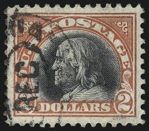 Sale Number 1078, Lot Number 575, 1912-23 Washington-Franklin Issues, cont.$2.00 Orange Red & Black (523), $2.00 Orange Red & Black (523)