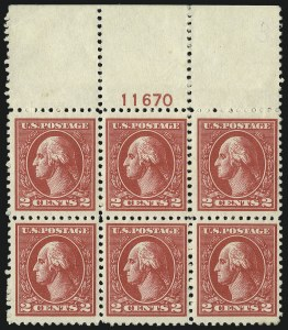 Sale Number 1078, Lot Number 579, 1912-23 Washington-Franklin Issues, cont.2c Carmine, Ty. VI (528A), 2c Carmine, Ty. VI (528A)