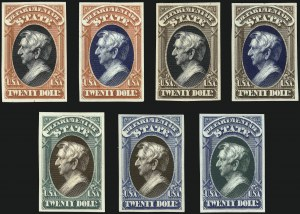 Sale Number 1078, Lot Number 8, Proofs and Specimens1c-$20.00 Officials, Atlanta Trial Color Proofs on Card (O1TC5-O93TC5), 1c-$20.00 Officials, Atlanta Trial Color Proofs on Card (O1TC5-O93TC5)
