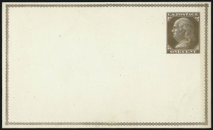 Sale Number 1080, Lot Number 2331, Forerunner Essays (Unidentified Author)1c Brown on Cream White, Forerunner Postal Card Essay (UX1E-H var), 1c Brown on Cream White, Forerunner Postal Card Essay (UX1E-H var)