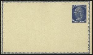 Sale Number 1080, Lot Number 2332, Forerunner Essays (Unidentified Author)1c Dark Blue on Buff, Watermarked, Forerunner Postal Card Essay (UX1E-Ha), 1c Dark Blue on Buff, Watermarked, Forerunner Postal Card Essay (UX1E-Ha)