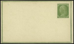 Sale Number 1080, Lot Number 2335, Forerunner Essays (Unidentified Author)1c Yellow Green on Buff, Forerunner Postal Card Essay (UX1E-Ha), 1c Yellow Green on Buff, Forerunner Postal Card Essay (UX1E-Ha)