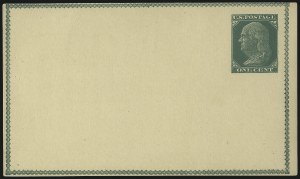 Sale Number 1080, Lot Number 2336, Forerunner Essays (Unidentified Author)1c Green on Buff, Forerunner Postal Card Essay (UX1E-Ha), 1c Green on Buff, Forerunner Postal Card Essay (UX1E-Ha)