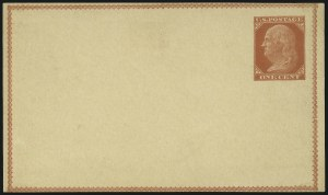 Sale Number 1080, Lot Number 2337, Forerunner Essays (Unidentified Author)1c Red on Buff, Forerunner Postal Card Essay (UX1E-Ha), 1c Red on Buff, Forerunner Postal Card Essay (UX1E-Ha)