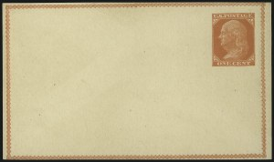 Sale Number 1080, Lot Number 2338, Forerunner Essays (Unidentified Author)1c Red Orange on Buff, Forerunner Postal Card Essay (UX1E-Ha), 1c Red Orange on Buff, Forerunner Postal Card Essay (UX1E-Ha)