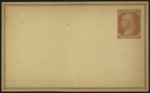 Sale Number 1080, Lot Number 2340, Forerunner Essays (Unidentified Author)1c Orange Brown on Manila, Forerunner Postal Card Essay (UX1E-Ha), 1c Orange Brown on Manila, Forerunner Postal Card Essay (UX1E-Ha)