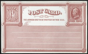 Sale Number 1080, Lot Number 2348, Forerunner Essays (National Bank Note Co.)1c Red on White Wove, National Bank Note Co., New York, Forerunner Postal Card Essay (UX1E-Xb), 1c Red on White Wove, National Bank Note Co., New York, Forerunner Postal Card Essay (UX1E-Xb)