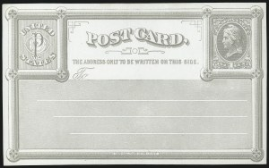 Sale Number 1080, Lot Number 2352, Forerunner Essays (National Bank Note Co.)1c Pale Gray on White Wove, National Bank Note Co., New York, Forerunner Postal Card Essay (UX1E-Xb), 1c Pale Gray on White Wove, National Bank Note Co., New York, Forerunner Postal Card Essay (UX1E-Xb)