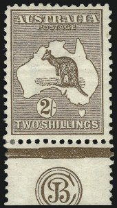 Sale Number 1081, Lot Number 3048, First Watermark Issue 2sh Brown, JBC Monogram (BW 35zc), 2sh Brown, JBC Monogram (BW 35zc)