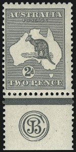 Sale Number 1081, Lot Number 3065, Third Watermark Issue 2p Gray Black, Die I (BW 7zc), 2p Gray Black, Die I (BW 7zc)