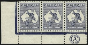 Sale Number 1081, Lot Number 3072, Third Watermark Issue 2-1/2p Blue (BW 11z), 2-1/2p Blue (BW 11z)