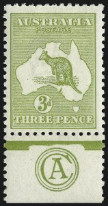 Sale Number 1081, Lot Number 3077, Third Watermark Issue 3p Yellow Olive, Die II (BW 13Bza), 3p Yellow Olive, Die II (BW 13Bza)