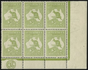 Sale Number 1081, Lot Number 3079, Third Watermark Issue 3p Pale Olive, Die I (BW 13Czb), 3p Pale Olive, Die I (BW 13Czb)