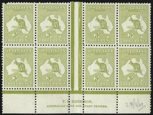 Sale Number 1081, Lot Number 3081, Third Watermark Issue 3p Yellow Olive, Die I (BW 13Azd), 3p Yellow Olive, Die I (BW 13Azd)