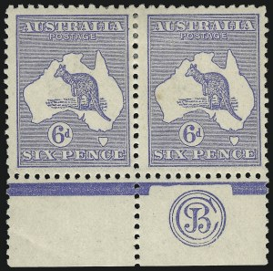Sale Number 1081, Lot Number 3084, Third Watermark Issue 6p Blue, Die II (BW 19Bzc), 6p Blue, Die II (BW 19Bzc)