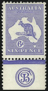 Sale Number 1081, Lot Number 3085, Third Watermark Issue 6p Ultramarine, Die II (BW 19zc), 6p Ultramarine, Die II (BW 19zc)