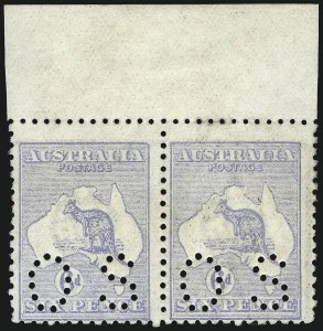 "Sale Number 1081, Lot Number 3087, Third Watermark Issue 6p Pale Ultramarine, Die IIB, Broken Leg on Kangaroo, Small ""OS"" (BW 20Cd), 6p Pale Ultramarine, Die IIB, Broken Leg on Kangaroo, Small ""OS"" (BW 20Cd)"