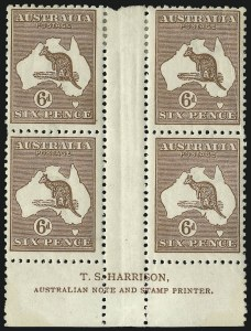 Sale Number 1081, Lot Number 3088, Third Watermark Issue 6p Chestnut (BW 21z), 6p Chestnut (BW 21z)