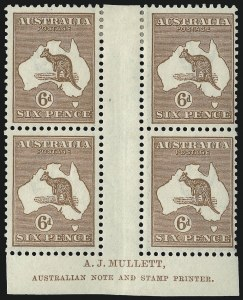 Sale Number 1081, Lot Number 3089, Third Watermark Issue 6p Chestnut (BW 21zb), 6p Chestnut (BW 21zb)