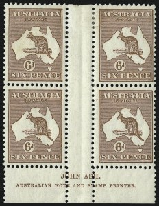 Sale Number 1081, Lot Number 3090, Third Watermark Issue 6p Chestnut (BW 21zf), 6p Chestnut (BW 21zf)