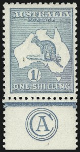 Sale Number 1081, Lot Number 3097, Third Watermark Issue 1sh Blue Green, Die II (BW 32za), 1sh Blue Green, Die II (BW 32za)