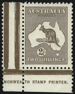 Sale Number 1081, Lot Number 3103, Third Watermark Issue 2sh Brown (BW 37ze), 2sh Brown (BW 37ze)