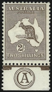 Sale Number 1081, Lot Number 3104, Third Watermark Issue 2sh Brown (BW 37za), 2sh Brown (BW 37za)