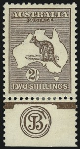 Sale Number 1081, Lot Number 3105, Third Watermark Issue 2sh Brown (BW 37zb), 2sh Brown (BW 37zb)