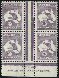 Sale Number 1081, Lot Number 3124, Small Multiple Watermark Issue9p Violet (BW 28z), 9p Violet (BW 28z)