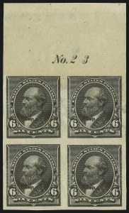 Sale Number 1082, Lot Number 137, Essays and Proofs: 1890-93 Issue6c Slate Green, Trial Color Plate Proof on Wove (224TC5), 6c Slate Green, Trial Color Plate Proof on Wove (224TC5)