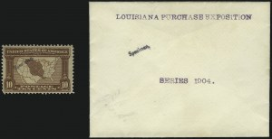Sale Number 1082, Lot Number 292, Essays and Proofs: Specimen Overprints1c-10c Louisiana Purchase, Specimen Ovpts. Ty. E (323S-327S-E), 1c-10c Louisiana Purchase, Specimen Ovpts. Ty. E (323S-327S-E)