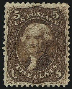 Sale Number 1082, Lot Number 379, 1861-68 Issues5c Red Brown (75), 5c Red Brown (75)