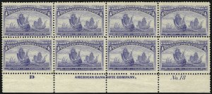 Sale Number 1082, Lot Number 405A, Columbian, 1st Bureau, Trans-Mississippi and Pan-American Issues4c Columbian (233), 4c Columbian (233)