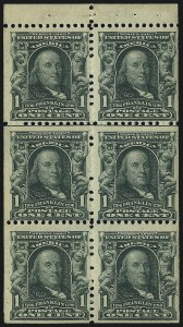 Sale Number 1082, Lot Number 421, Columbian, 1st Bureau, Trans-Mississippi and Pan-American IssuesBooklet Panes, Booklet Panes