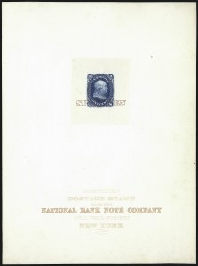 Sale Number 1082, Lot Number 60, Essays and Proofs: 1861-66 Issue1c Blue, Large Die Proof on India, Specimen Ovpt. (63P1 var), 1c Blue, Large Die Proof on India, Specimen Ovpt. (63P1 var)