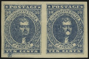 Sale Number 1082, Lot Number 603, Confederate States: Essays and Proofs, General Issues10c Dark Blue, Hoyer & Ludwig (2b), 10c Dark Blue, Hoyer & Ludwig (2b)