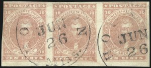 Sale Number 1082, Lot Number 608, Confederate States: Essays and Proofs, General Issues10c Rose (5), 10c Rose (5)